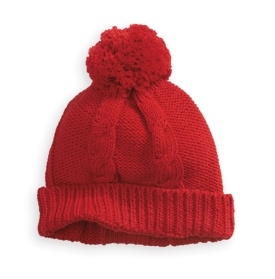 Bella Bliss Cableknit Pom Pom Hat